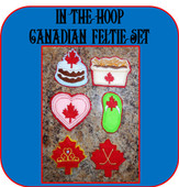 In The Hoop Canadian Feltie Embroidery Machine Design Set