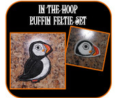 In The Hoop Puffin Feltie Embroidery Machine Design Set