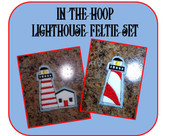 In the Hoop Lighthouse Feltie Embroidery Machine Design Set