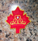 In The Hoop Canadian Princess Feltie Embroidery Machine Design