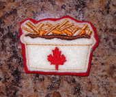In The Hoop Canadian Feltie Poutine Embroidery Machine Design
