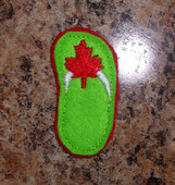 In The Hoop Canadian Feltie Flipflop Embroidery Machine Design