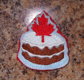 In The Hoop Canadian Feltie Birthday Cake Embroidery Machine Design