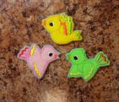 In The Hoop Bird Feltie Embroidery Machine Design Set
