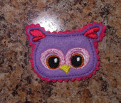 In The Hoop Adorable Owl Feltie Embroidery Machine Design