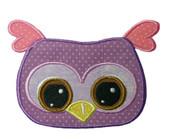 Adorable Owl Applique Embroidery Machine Design