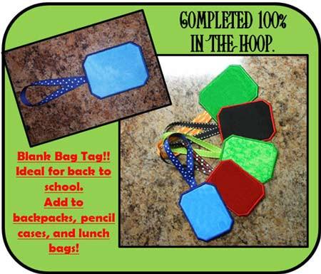 Blank Bag Tag Design - Newfound Applique