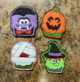 In The Hoop Halloween Feltie Set 3 Embroidery Machine Design Set