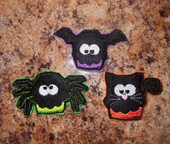 In The Hoop Halloween Feltie Set 2 Embroidery Machine Design Set