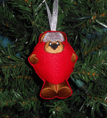 In The Hoop Christmas Tree Bear ornament Embroidery Machine Design