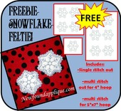 In The Hoop Snowflake Feltie