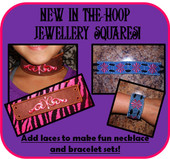 IN The Hoop Jewellery Squares Embroidery Machine Designs