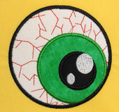 Eyeball Applique Embroidery Machine Designs