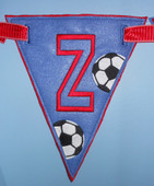 In The Hoop Triangle Banner Soccer Ball Embroidery Machine Design