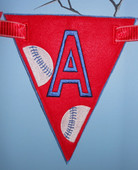 In The Hoop Triangle Baseball Banner Embroidery Machine Design
