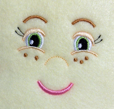 Doll Face Girl With Freckles Embroidery Machine Design Newfound