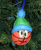 In The Hoop Christmas Basketball Ornament Embroidery Machine Design