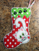 In The Hoop Mini Cat Stocking 1 Embroidery Machine Design