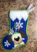 IN The Hoop Mini Dog Stocking 1 Embroidery Machine Design