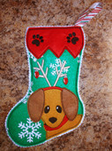 In The Hoop Mini Dog Stocking 2 Embroidery Machine Design