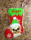 In The Hoop Mini Dog Stocking 3 Embroidery Machine Design