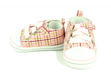 Plaid Shoes - Pink and White