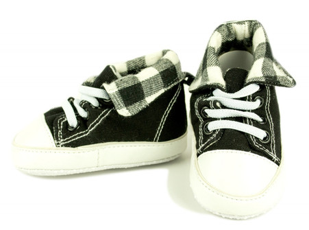 Plaid Hightop - Black and White