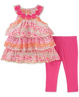 Tiered Ruffle Tunic & Leggings Set