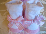 Pink & White Princess Sock Set