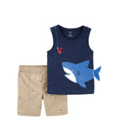 Carters 2 Piece Shark Short Set