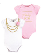 Baby Boss Cotton Bodysuits - 2 pack