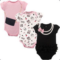 Pearls Cotton Bodysuits - 3 pack