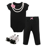 Pearls and Bows 3 Piece Set