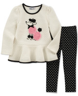 Quilted Poodle Tunic & Heart-Print Leggings Set