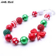 Xmas Red, White, & Green Necklace
