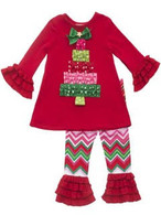 Christmas Tree Top & Leggings Set