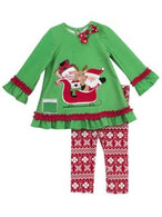 Santa On A Sleigh Top & Leggings Set