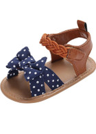 Girls Dot Strip Bowknot Summer Sandals