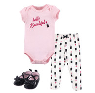 Little Treasure Lipstick Pant, Bodysuit, and Shoe Set