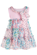Bonnie Baby - Baby Girls Chiffon Tiered Dress