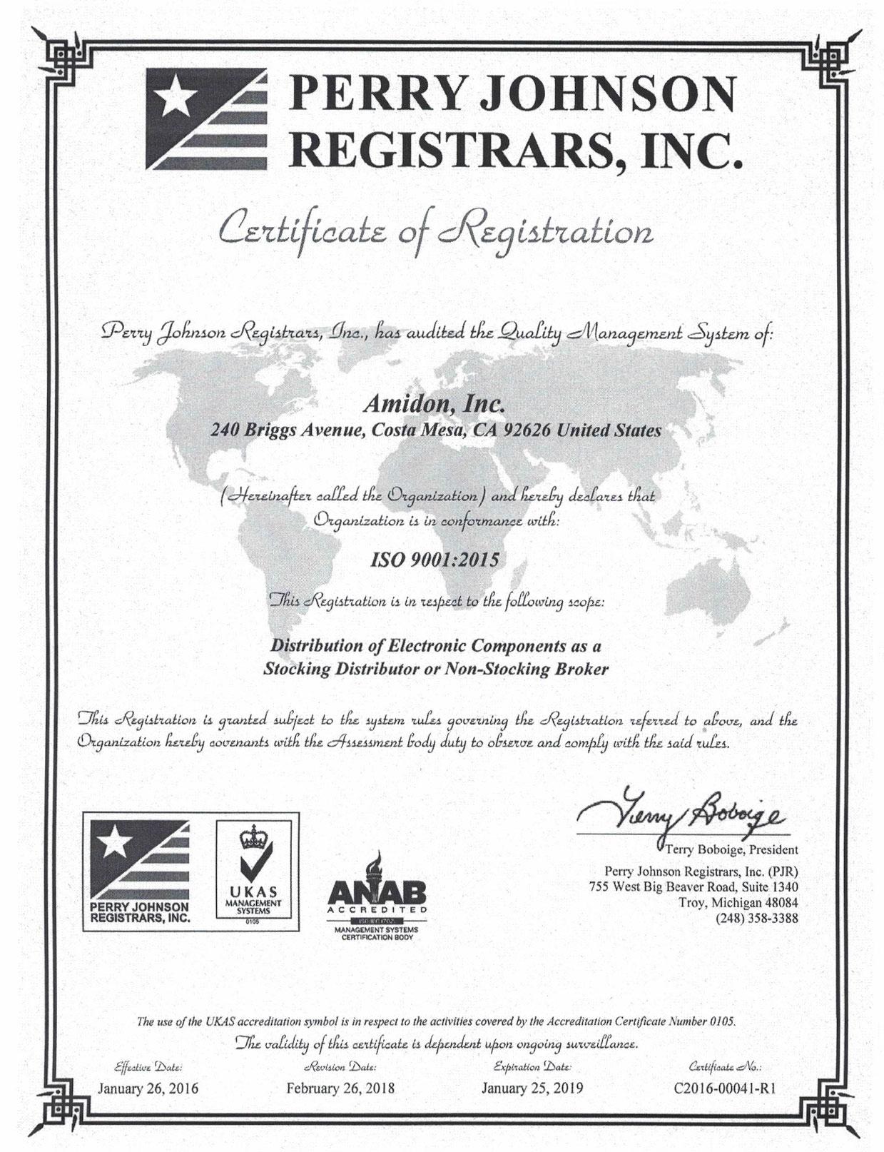 ISO Cert 9001-2015