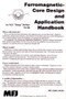 Ferromagnetic Core Design & Application Handbook - Back