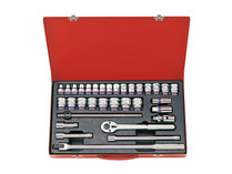 "SOCKET SET 33pc 1/2""DV King Tony 4034MR"