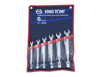 SPANNER SET combination spanne r/ socket 6pc King Tony  1B06MR