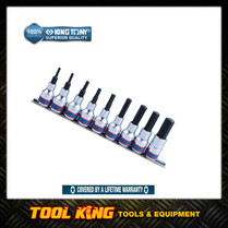 "9pc INHEX Socket Bit  set 1/2""Dv metric SUPERIOR QUALITY 4110PR10 King tony"