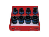 "SOCKET SET IMPACT 3/4"" drive metric King tony 6408MP"