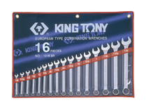 SPANNER SET COMBINATION 16pc imperial King Tony 1216SR