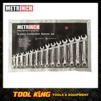 METRINCH 14pc Spanner set Works on Metric SAE & Whitworth