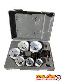 9pc BI METAL Tradesmans Hole saw set   Drills metal  wood and plastic