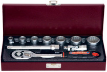 "SOCKET SET WHITWORTH  10pc 3/8"" drive Eurotech"